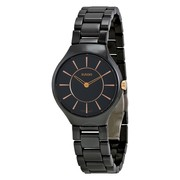 Часы Rado True Thinline 30 Ceramic Lady (черные)